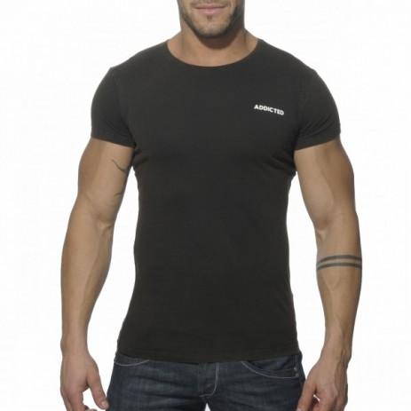 Addicted AD215 Vintage T-Shirt Zwart Voorkant