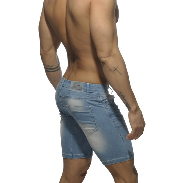 8cd4a925a05092 Addicted Mid Length Short - Blue Jeans