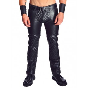 Mister B Leather Padded Jeans