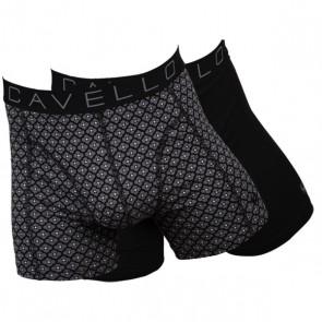 Cavello 2 Pack Boxershorts - Print Grijs / Zwart