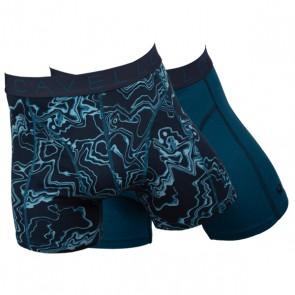 Cavello Waterman 2 Pack Boxershorts - Print / Aqua