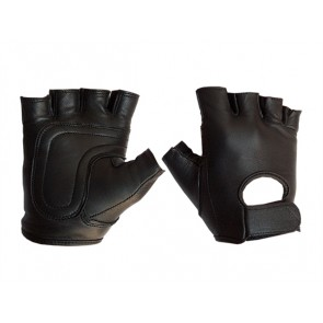Mister B Leather Fingerless Gloves
