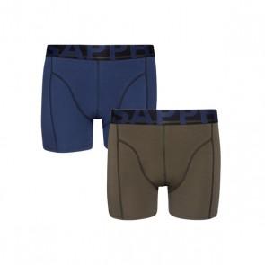 Sapph 2-Pack Boxershorts Katoen - Forest / Blue