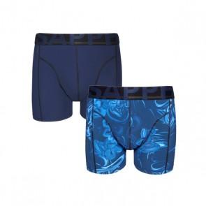 Sapph 2-Pack Boxershorts Microvezel - Blue / Cloudy Print