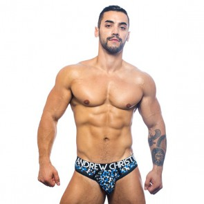 Andrew Christian - Midnight Animal Mesh Thong - Blauw
