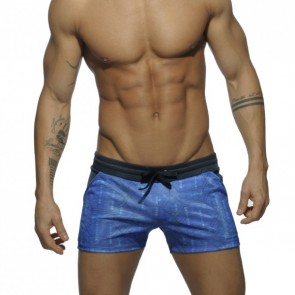 Addicted Contrast Waistband Short Navy
