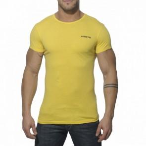 Addicted AD215 Vintage T-Shirt Geel Voorkant