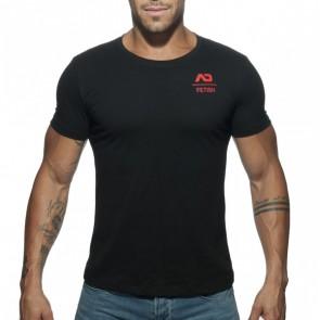 Addicted U-Neck Fetish T-Shirt - Zwart