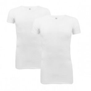 Cavello 2-Pack Stretch T-Shirts V-Neck - Wit