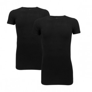 Cavello 2-Pack Stretch T-Shirts O-Neck - Zwart