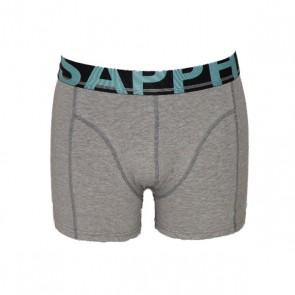 Sapph Daan Boxershort Katoen Grey Melange / Black