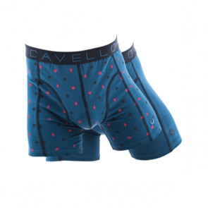 Cavello 2 Pack Boxershorts - Azen Print / Blauw