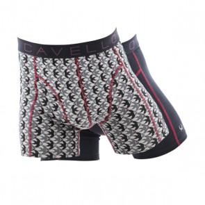 Cavello 2 Pack Boxershorts - Vissen Print / Zwart