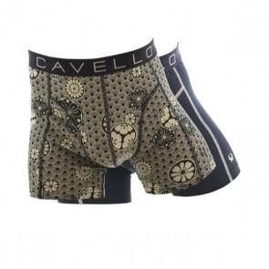 Cavello 2 Pack Boxershorts - Bloemen Print / Zwart