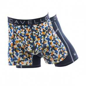 Cavello 2 Pack Boxershorts - Mozaïek / Blauw