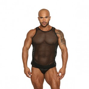 Black Unicorn - Fishnet Muscle Tank - Zwart