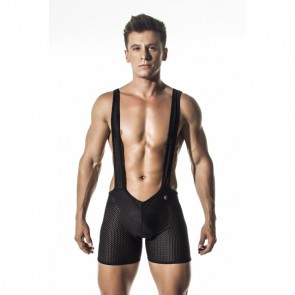 GIGO - Transparante Heren Body - Zwart