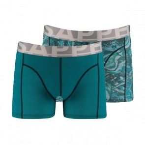 Sapph 2-Pack Boxers Micro Harbor Blue & Wavey Print