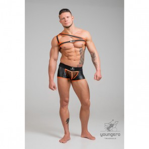 Maskulo Youngero Asymmetrical One Shoulder Harnas - Neon Oranje