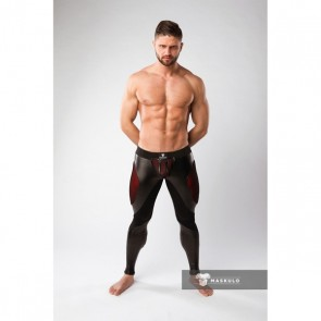 Maskulo Armored Color-Under Fetish Leggings - Red