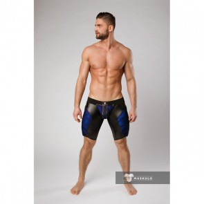 Maskulo Armored Color-Under Fetish Shorts - Blue