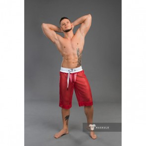 Maskulo Youngero Men's Fetish Shorts Mesh - Rood