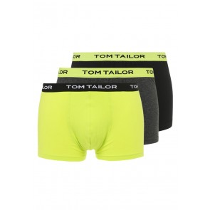 Tom Tailor Boxershort 3 Pack Black-Lime-Grey