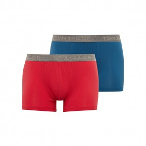 Tom Tailor 2 Pack Cotton Boxershorts Rood en Blauw